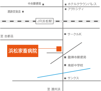 浜松家畜病院の地図