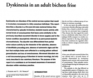 Dyskinesia in an adult BF